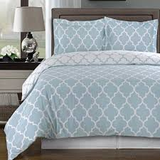 blue and white sheets. Simple Sheets Modern Moroccan Quatrefoil Light Blue White 3pc Cotton Duvet Cover Set Throughout And Sheets N