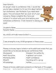Conference Form   Conferences   Pinterest   Teacher Conferences ...