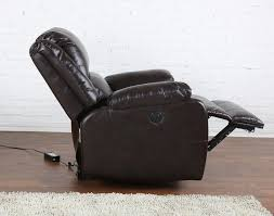 classic brown bonded leather power electric recliner living room chair com