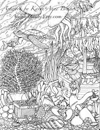 Small Picture Humming Belles Undersea Coloring Panel Number Three