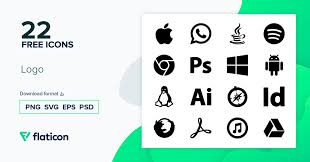logo icon pack filled 22 svg icons