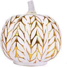 Glass Pumpkins Decor With Micro Lights Best Fall Home Decor Accessories Popsugar Home