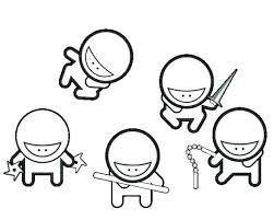 Ninja Turtle Coloring Pages For Kids Free Ninja Turtle Coloring