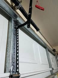 garage door opener reinforcement bracket mounting