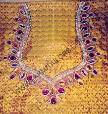 Full Embroidery Blouse Designs Full Hand Embroidery Blouse Designs Tissino
