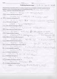 worksheet writing predicting equations kidz activities s of chemical reactions worksheet answers chemistry if general