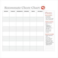 Chore Chart Samples Examples Of Chore Charts Chart Design