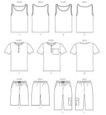 Tank Top Pattern Beauteous M48 Men's Tank Tops Henley TShirts And Shorts Sewing Pattern