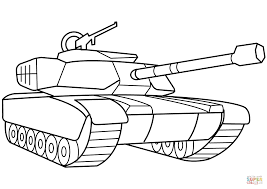 Mighty Military Coloring Page Yescoloring Free Army Inside Tank