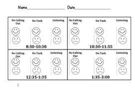 Fourth Grade Behavior Chart Student Behavior Chart By Fourth Grade Escapade Tpt