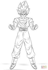 Small Picture Goku Super Saiyan coloring page Free Printable Coloring Pages
