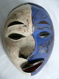 vintage african art small wooden face mask hand carved