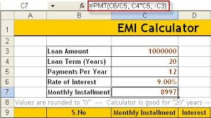 home loan interest calculator excel learn how to create emi calculator in excel also download
