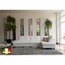 designer living room furniture. California White Top Grain Leather Right Hand Facing Sectional Designer Living Room Furniture