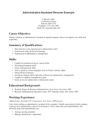 Resume Template For Executive Assistant Administrative Skills Sample