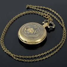 online get cheap watches men marine aliexpress com alibaba group cindiry retro bronze men watch antique quartz pocket watches chain united states marine corps bronze