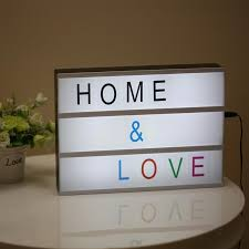 whole modern cinematic lightbox table lamp diy with letters number a4 size led lamp battery usb powered cinema desk night light box by