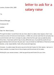 raise salary letter letter to ask for a salary raise