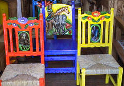 painted mexican furnitureMexican Chairs Casa Mexicanaus Chairs Are Hand Made From Solid
