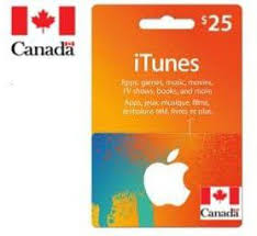 itunes canada gift card 25