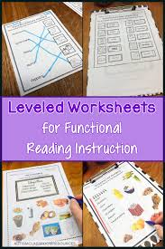 Functional Words List Leveled Worksheets For Functional Reading Instruction