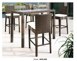 outdoor wicker high dining set table view larger