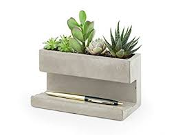 office planter boxes. kikkerland concrete desktop planter large pl02l office boxes
