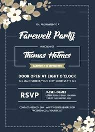 Invitation Cards For Farewell Party Farewell Party Invitation Card Farewell Party Invitation Card Design