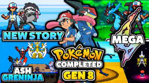 Completed Pokemon GBA ROM Hack With Mega Evolution, | Pokemon GBA With New  Story, Gen 8, ASH & More!