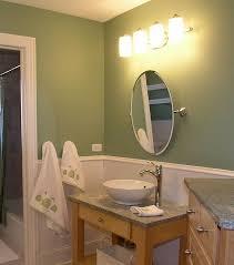 Bathroom. Small bathroom decoration using light green bathroom wall paint  including round flare white ceramic