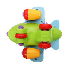 diy assembly plastic kids cartoon airplane education toys with tool educational toys