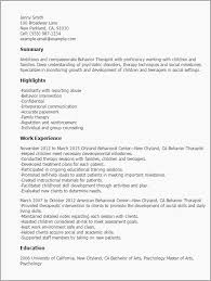 Cover Letter For Behavior Therapist Ozilmanoof Massage Therapist