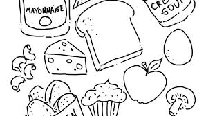 Eating Coloring Pages Healthy Food Heart Nutrition For Pdf He Acnee