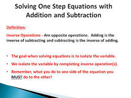 2 solving one step equations with addition
