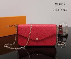 lv handbag red m64065 louis vuitton pochette bag felicie real leather