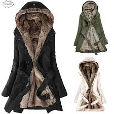 Us 29 78 42 Off 2019 Hot Ladies Fur Lining Coat Womens Winter Warm Thick Long Jacket Hooded Parka Autumn Winner Womens Clothing 18oct22 In Parkas