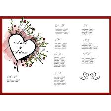 Tips On Creating A Wedding Seating Chart Free Sample