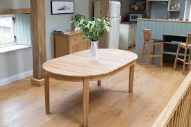 round oak dining table 100cm. round extending 8 seater european oak dining table 1.9m long 100cm l