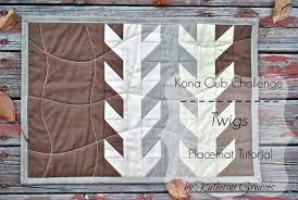 Sew Sisters Quilt Shop: Kona Club Challenge - Twigs Placemat by ... & Sew Sisters Quilt Shop: Kona Club Challenge - Twigs Placemat by Katherine  Greaves Adamdwight.com