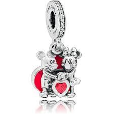 pandora disneyminnie and mickey with love pendant charm 797769czr