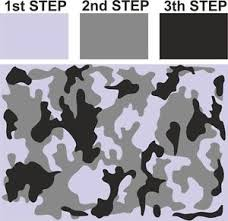 Camo Pattern Cool M CAMOUFLAGE Camo Pattern Airbrush Stencil Vehicle Bike Army Tank