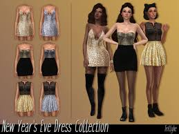 New Year's Eve Dress Collection by Trillyke at TSR » Sims 4 Updates