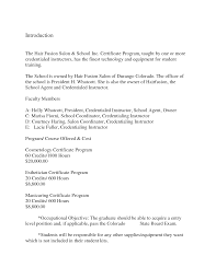 Examples Of Cosmetology Resumes Free Resume Example And Writing