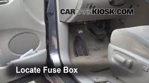 interior fuse box location 2004 2010 toyota sienna 2006 toyota locate interior fuse box and remove cover
