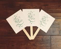 printable wedding program fans