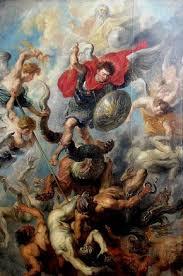 how archangel michael fights satan in revelation 12