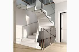 Helical staircase / wooden steps / without risers / contemporary E20-Q-GLE  d ...