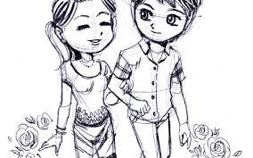 cute cartoon couples in love drawings cute cartoon love couple hot