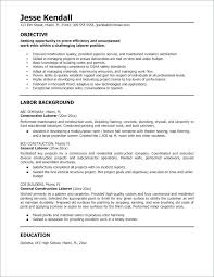 contractor resume general laborer resume general laborer resume awesome general