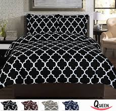 black and white duvet cover utopia bedding superior quality brushed microfiber set by arya sweetgalas